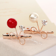 Know Connie hair accessories Korean version-encrusted Butterfly first cherry bangs clip Duckbill clip clip Clip hairpin jewelry