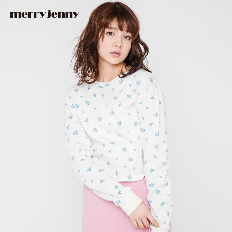 merry jenny17新款 日系小清新小碎花长袖T恤 日本官网直邮