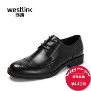 Westlink/West spring 2016 new yinglunbuluoke carved with business casual men shoes
