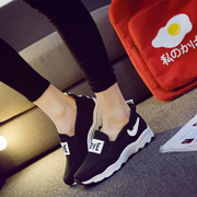 Korea ulzzang platform increases in the autumn high and low air cushion shoes Sports leisure shoes Forrest shoes wave