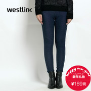 Westlink/West New 2015 winter recreation Joker tight women's bound feet jeans skinny jeans