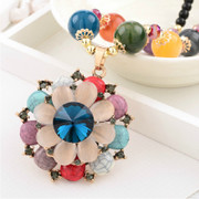 Love Korea necklace vintage ethnic Joker new bead Flower necklace women hanging accessory bag-mail