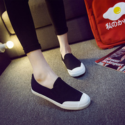 Korean students with low flat women's shoes at the end of Lok Fu shoes flat heel shoes lazy casual canvas shoes summer sandals