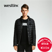 Westlink/West New 2015 winter tide square collar collar shirt-White Duck down down jacket men's coat