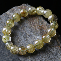 Bao Crystal rare Pro-tourmaline Crystal bracelet made by green visions of female male strings into natural symbiosis family price