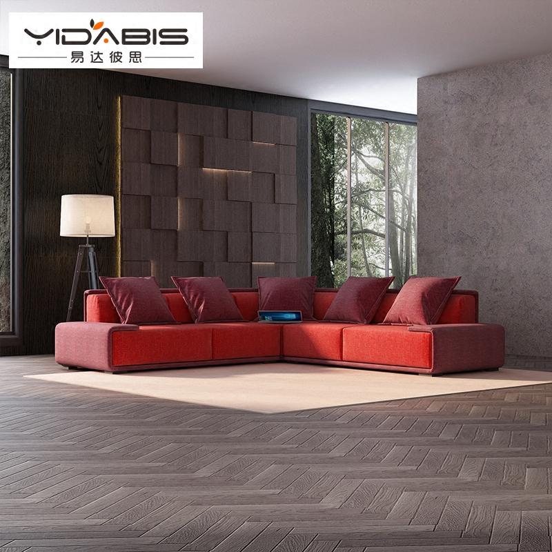 YDBS北欧设计师客厅家具大小户型现代简约布艺沙发组合2320