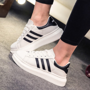 Spring/summer 2015 Korea sports and leisure shoes shoes black and white three-section staves muffin thick soled shoes Korean wave