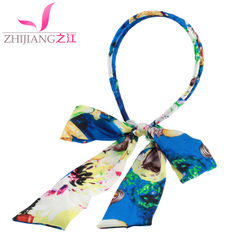 Zhijiang hair band headband Korea issuing sweet hair jewelry hair clip Ribbon Butterfly clip before the first tiara headband