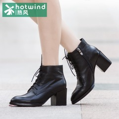 Hot lady pointed chunky heels short boots new style winter boots with high heels short tube women boots 75H5952