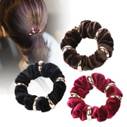 Open ornament jewelry Korean capitatum Korea France velvet method Rai velvet hair band hair accessories hairpin hair