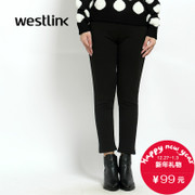 Westlink/West New 2015 winter casual knits and cashmere slim slim Pocket women's trousers