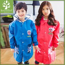 韩国KK树儿童雨衣男童带书包位 女童雨衣宝宝雨披小学生雨衣加厚