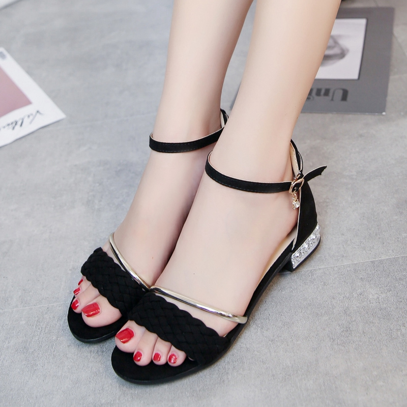 韩版百搭凉鞋女学生夏
