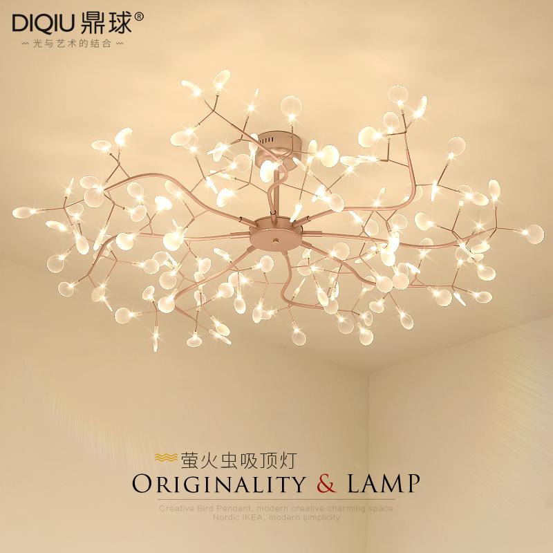 北欧后现代萤火虫吸顶灯树枝叶子客厅卧室餐厅别墅设计师灯具顶灯