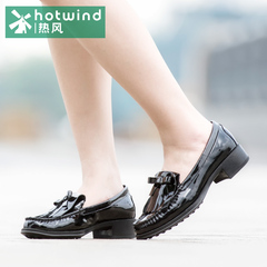 Hot shoes spring simple tassel leather shoes asakuchi low tide women leisure shoes women 61H5848