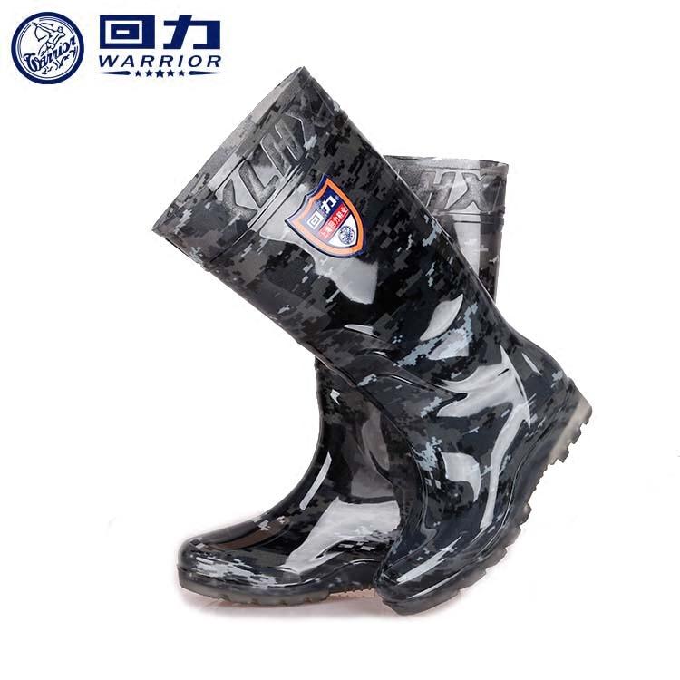 回力雨鞋男士筒靴春夏季水鞋中筒雨靴男防水防滑高筒耐磨迷彩胶鞋