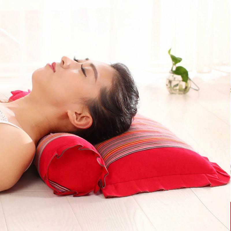 颈椎枕头颈椎专用枕头 修复颈椎脊椎枕中药保健护颈枕芯荞麦枕