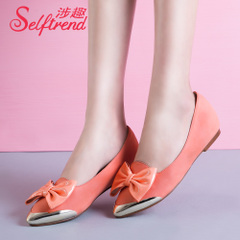 Related interesting spring 2015 paint new sweet pattern bow metal tipped shoes with high shoes asakuchi T03012