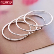 Special purchases for the simple circle hoop earrings 925 Silver fashion jewelry earrings Korean ladies gift Belle exclusive