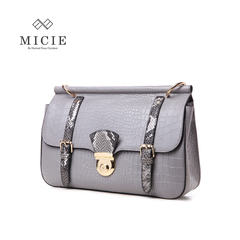 MICIE/beautiful city 2015 new leather crocodile pattern Messenger bag casual versatile clamshell Messenger baodan shoulder bag