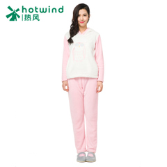 Hot hooded pullovers cartoon Pajamas girls winter suit thickening the sweet home service 93H025902