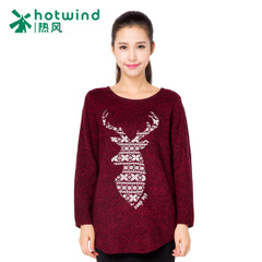 Hot ladies '''''''''''''''' deer head flower yarn sweater long sweater Turtleneck women female College of new wind 08H5902