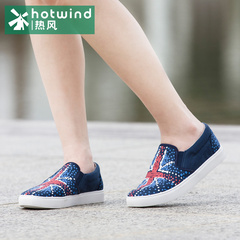 Hot shoes ladies Spring College smooth Union Jack canvas shoes women shoes meters by the end of the tide 61H5726