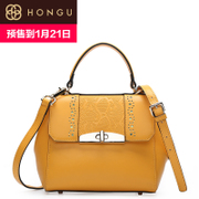 Honggu red Valley new 2016 European fashion cover bag leather hand slung bags 8061