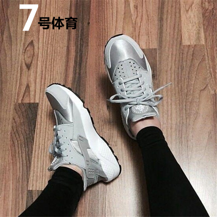 Wallace authentic Nike shoes AIR HUARACHE silver sneakers men\u0027s running  shoes 634835,004