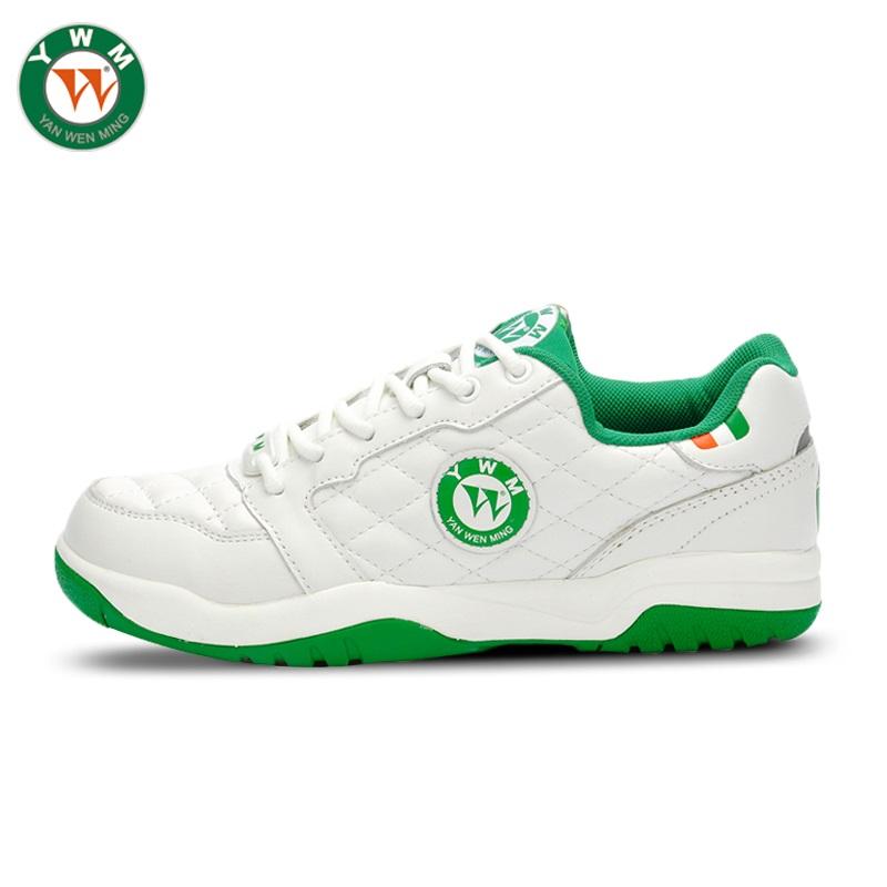 香港颜文明 女式牛皮经典网球运动鞋复古时尚休闲鞋 2517104正品