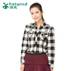 Hot women's clothing long Han Fan in Plaid Shirt women long sleeves slim and cashmere thermal shirt 02H5901