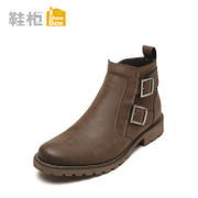 Winter new low tube boots shoe shoebox2015 men PU material zipper boots Martin 1115515021