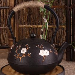 日本南部铁壶铸铁壶原装纯手工无涂层老铁壶烧水茶壶进口喜上眉梢