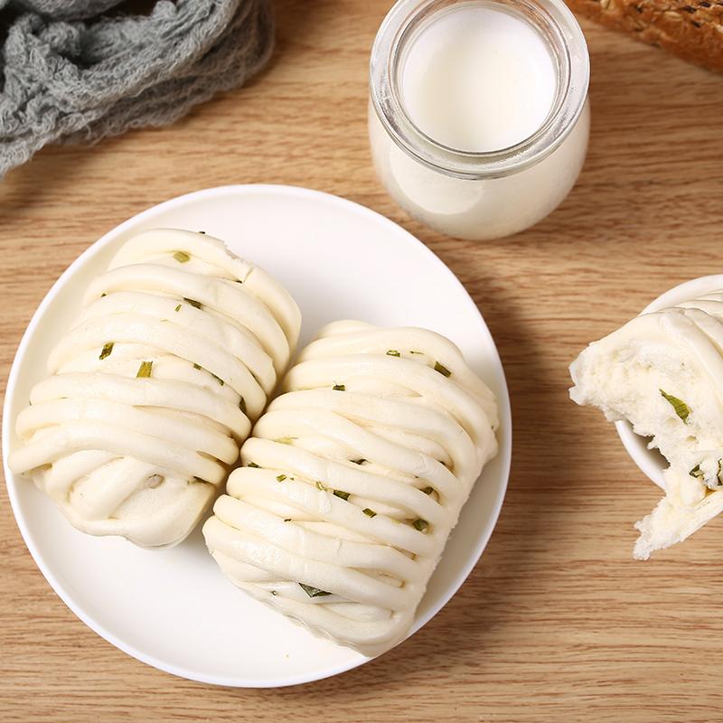 32只 安井葱油小花卷馒头纯手工早饭早餐早点速冻包子食品半成品