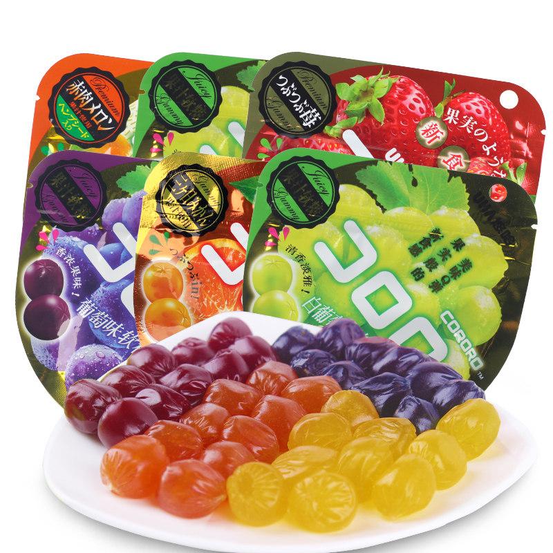 日本进口糖果零食 UHA悠哈味觉糖果汁软糖QQ软糖*6包休闲小吃包邮