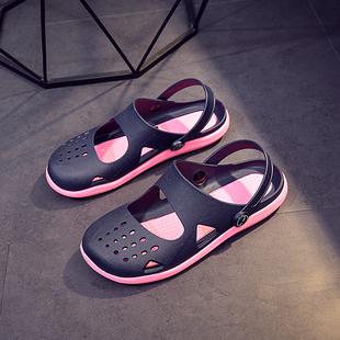 越南乳胶凉鞋女韩版平底洞洞鞋防臭旅游软胶鞋休闲防滑不磨脚女鞋图片