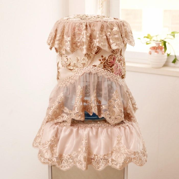 包邮饮水机罩防尘罩家用客厅韩式欧式蕾丝布艺饮水机罩子套2件套