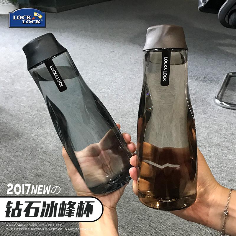 乐扣乐扣水杯创意便携塑料随手杯夏季学生水壶户外运动大容量杯子