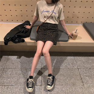 2018秋季新款韩版豹纹半身裙