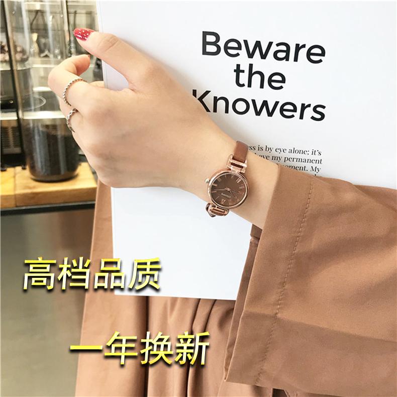手表女士ins风中学生韩版简约复古电子学院风时尚款休闲法国小众