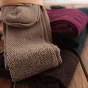 Japanese autumn and winter water ripples modal cotton thick high-quality warm pantyhose bottoming socks long legs