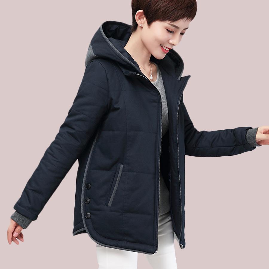 冬装妈妈装棉衣女短款小棉袄加厚外套加肥加大码中年女装羽绒棉服