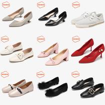 Daphne/达芙妮2021秋小白鞋穆勒鞋低跟时尚百搭户外女士单鞋