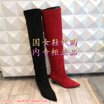 妙丽2018冬款低跟冬靴长靴女鞋女靴专柜正品LZPLW180DLW180DC8