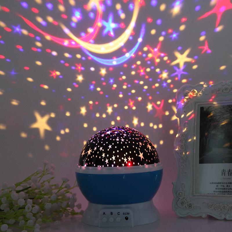 浪漫星空灯投影仪创意充电少女心小夜灯满天星儿童睡眠灯抖音梦幻