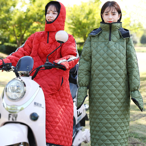 Bicycle electric motorcycle windshield is thickened in winter to keep warm and cold battery car windshield waterproof windbreaker
