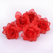 Good pretty bride flower tiara hair accessories wedding accessories red rose u-shaped hairpins jewelry hairpin 008
