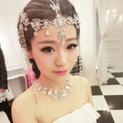 Good Korean beauty bridal tiaras wedding dress accessories for prom jewelry show jewelry and makeup styling package mail
