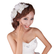 Good pretty bride flower headdress Korean wedding handmade bridal tiara Studio makeup styling hair clips