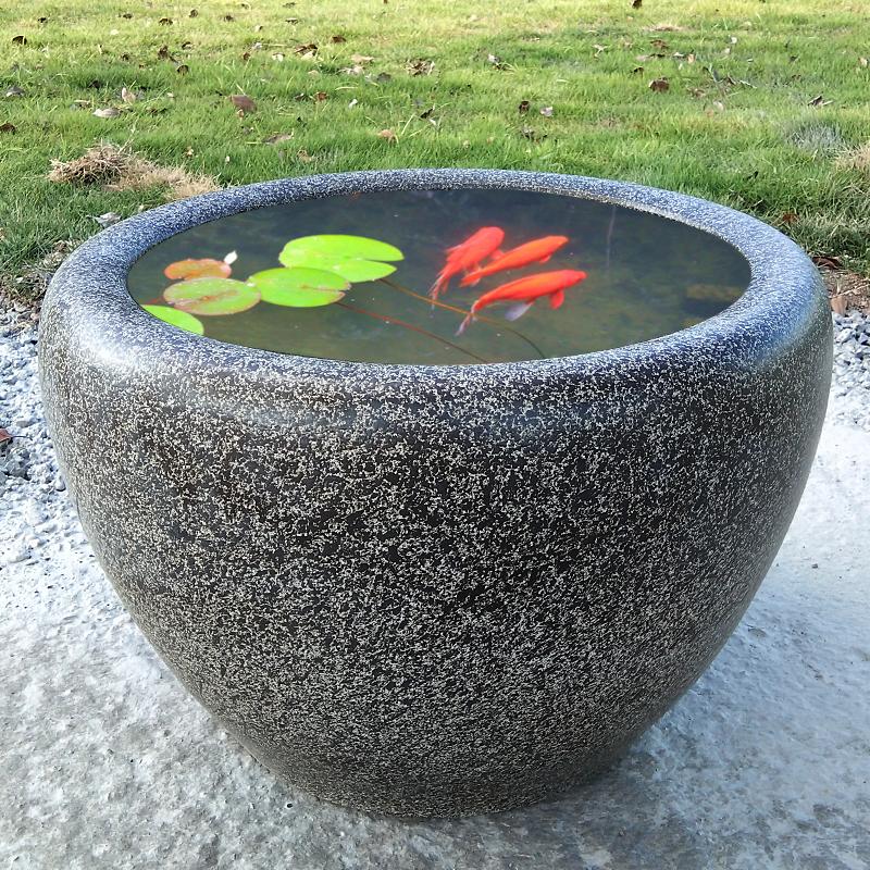 陶瓷鱼缸养鱼水缸庭院老式荷花睡莲缸乌龟缸复古户外水缸造景陶缸